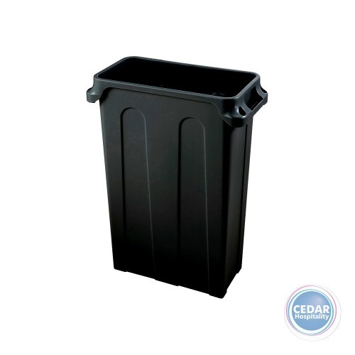Tuff Slim Bin Vented Channel with Handles 76Lt - 2 Colours