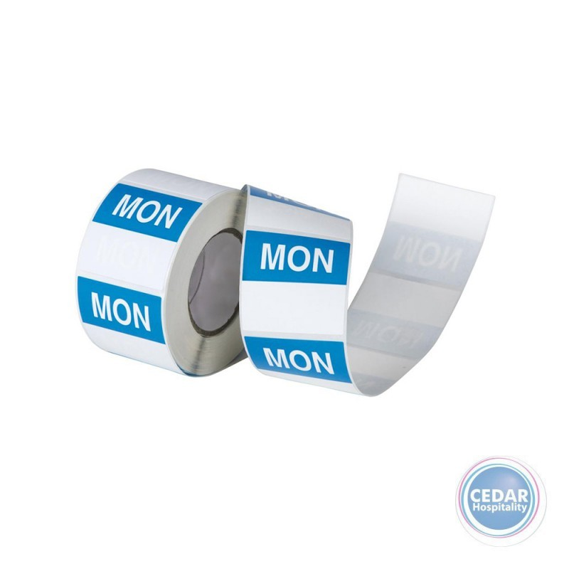Day Labels Square Superremovable 40mm RL/500 - 7 Days