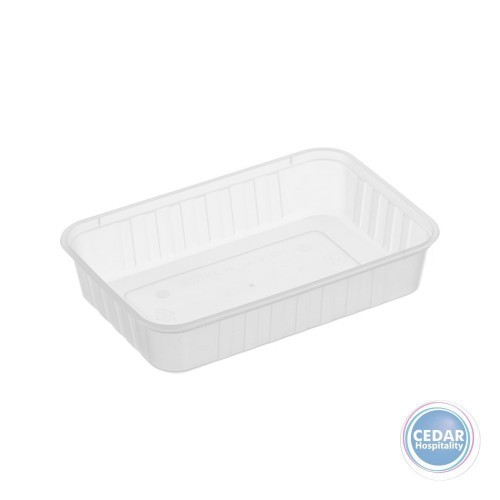 Genfac Ribbed Rectangular Container 500ml - BX/500