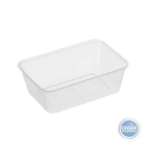 Genfac Plain Rectangular Container 750ml - BX/500