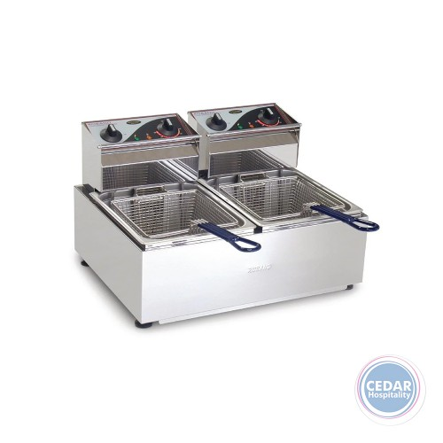 Roband Counter Top Double Fryer - 2 Baskets