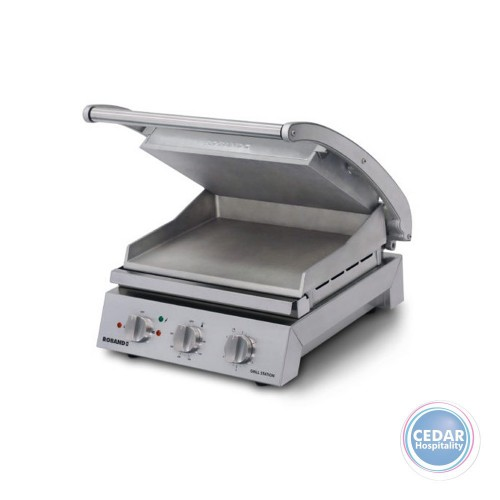 Roband Contact Grill Station - Smooth Plate Non-Stick Coated