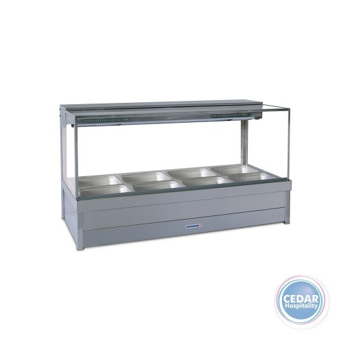 Roband Square Glass Hot Foodbar Double Row