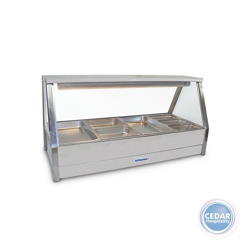 Roband Double Row Straight Glass Hot Foodbar