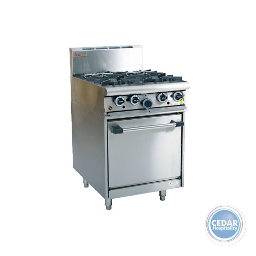 4 Open Top Burner With Oven