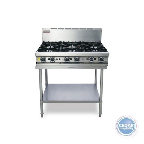 6 Open Top Burners inc Stand