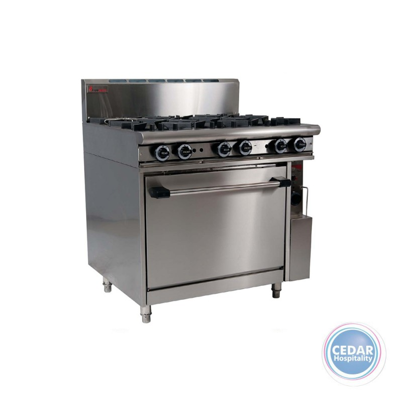 6 Open Top Burners with Oven