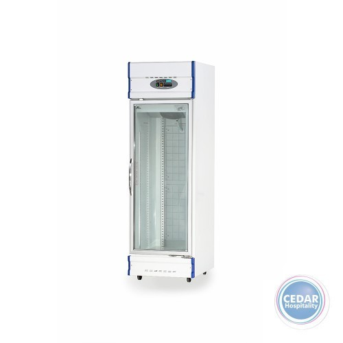 Anvil Single Glass Door Upright Display Freezer – 520Lt