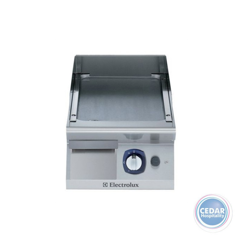 Electrolux 700XP Gas Fry Top Griddle with smooth mild steel plate - 400mm wide