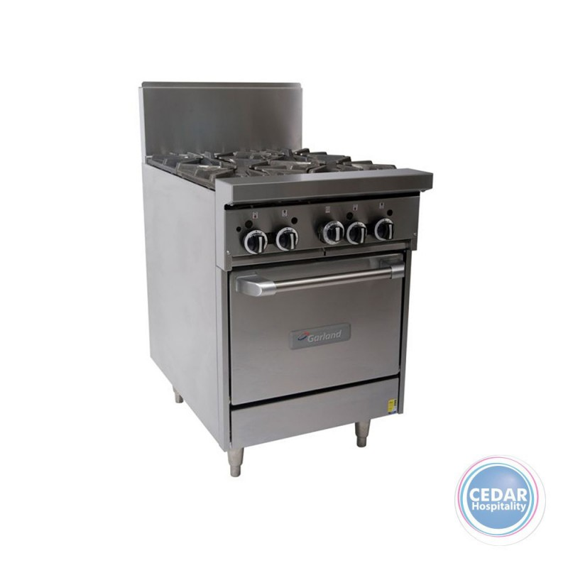 Garland Single Oven Range with 4 Open Top Burners & Flame Failure