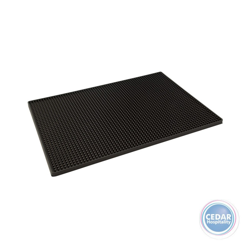 Barmat Rubber Black Drip Tray 450x300mm