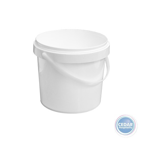 White Plastic Buckets - 3 Sizes