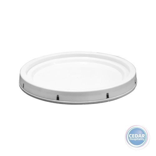 Lids for White Plastic Buckets with Steel Handle - 2 Sizes