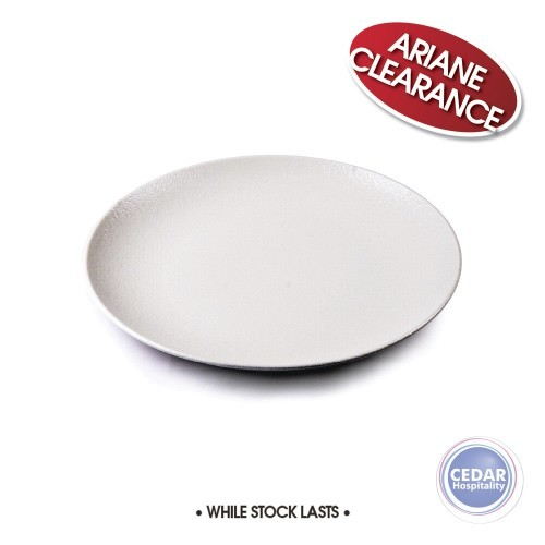 Ariane Dazzle White Round Rimless Plate - 6 Sizes