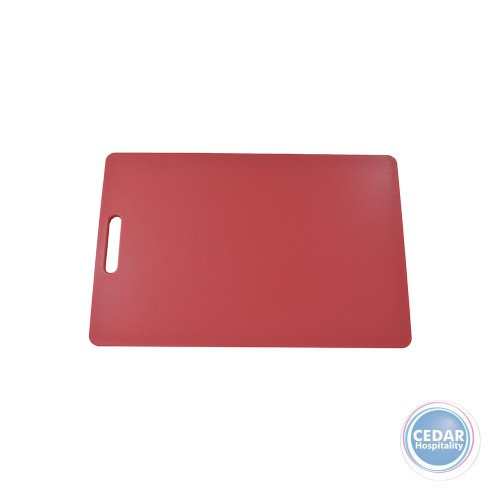 Chef Inox Polyproylene Cutting Board With Handle 250x400x12mm - 3 Colours