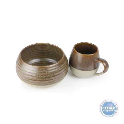 Robert Gordon Morning Hugs Bowl & Mug - 4 Colours