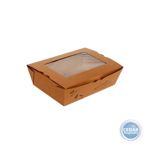 Large Box-To-Go Lunch Box with Window 197x140x64mm