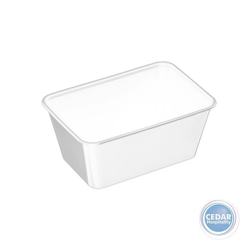 Genfac G Plastic Rect Container 1000ml - BX/500