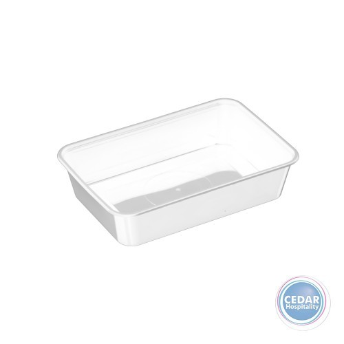 Genfac G Plastic Rect Container 500ml - BX/500