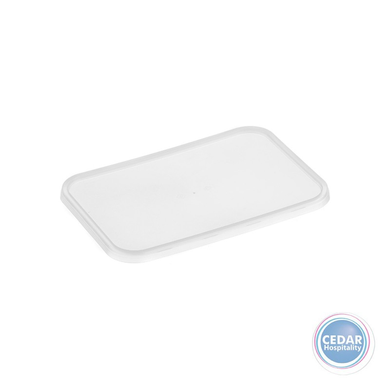 Genfac Rect Lids Clear For Ribbed 500 750 & 1000ml - BX/500
