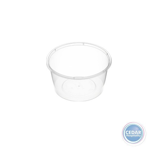 Genfac Plastic Round Containers 440ML - BX/500