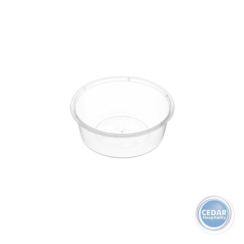 Genfac Plastic Round Containers 280ml - BX/500