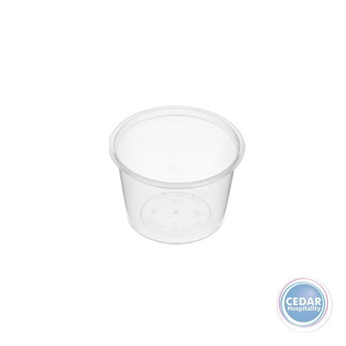 Genfac Plastic Round Containers 100ml - BX/1000