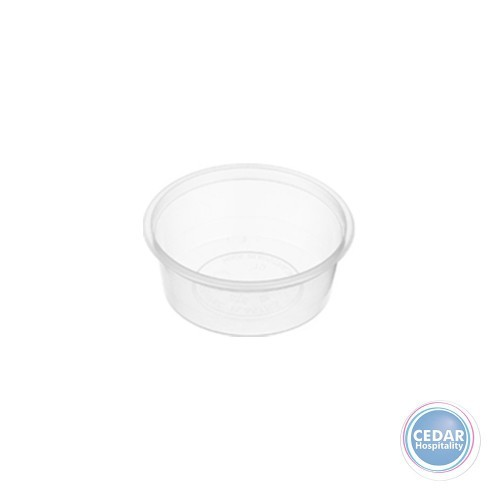 Genfac Plastic Round Containers 70ml - BX/1000