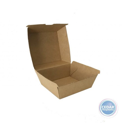 Burger Take Away Boxes Brown BetaBoard - 50 PCE