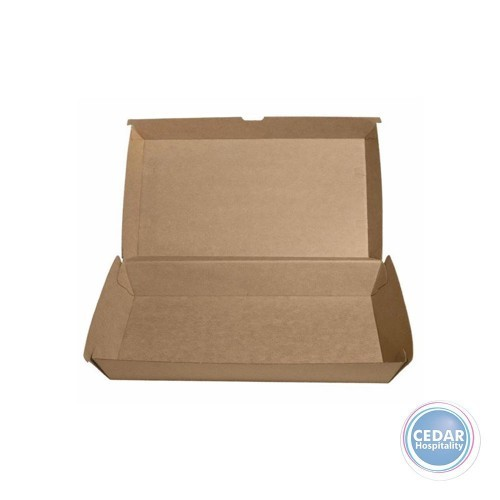 Hot Dog Take Away Boxes Brown BetaBoard - 50 PCE