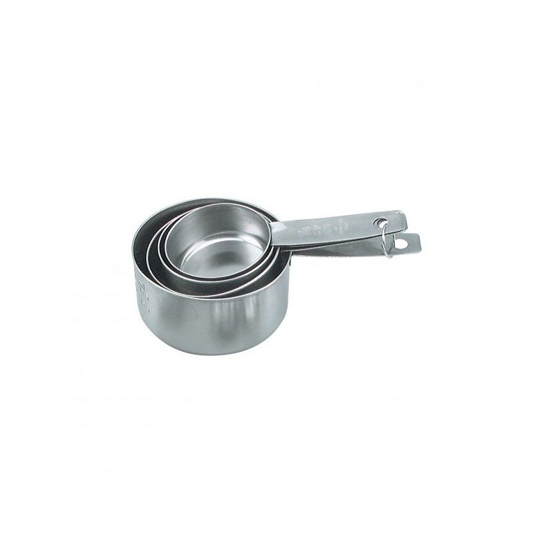 MEASURING CUP S/STEEL SET 4 60-250ML