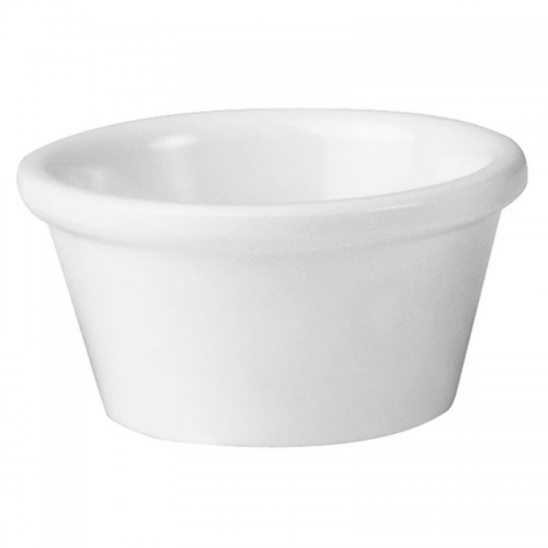 MELAMINE RAMEKIN WHITE 60ML CATER-RAX 72MM X 40MM