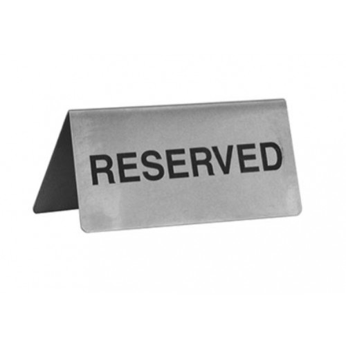 RESERVED A-FRAME STAINLESS STEEL SIGN 100 x 43MM