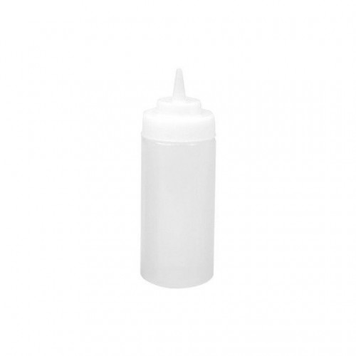 PLASTIC SQUEEZE BOTTLE 480ML CLEAR WIDE MOUTH