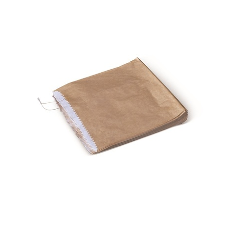 BROWN PAPER BAG 1 SQUARE LINED PKT/500
