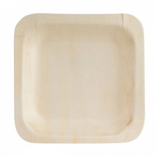 Bio Wood Square Plate - 115 x 115mm