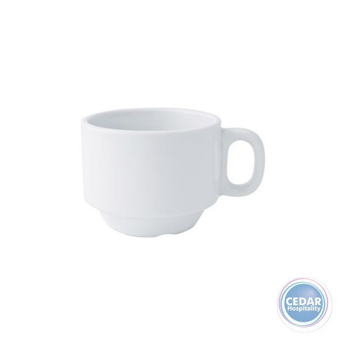 L/F WHITE STACKABLE TEA CUP 220ML