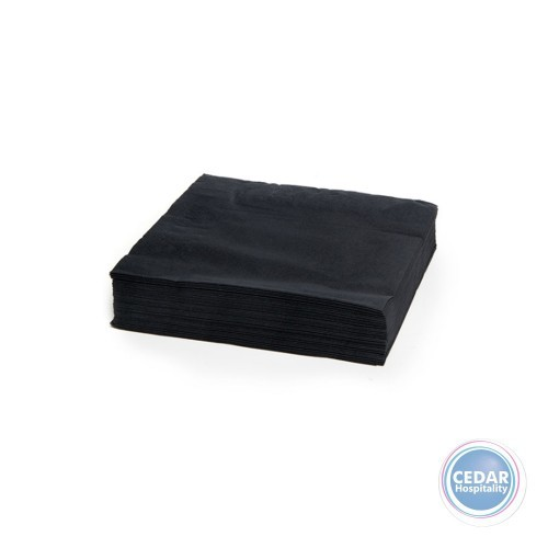 NAPKIN 2PLY COCKTAIL BLACK 2000/CTN