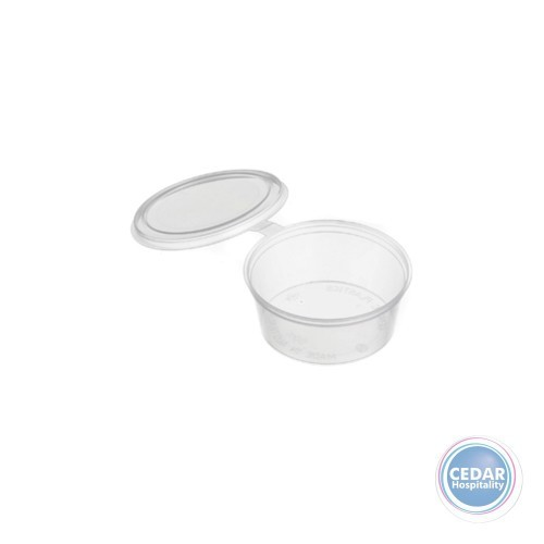 Plastic Sauce Container with Lid 50ml - BX/1000