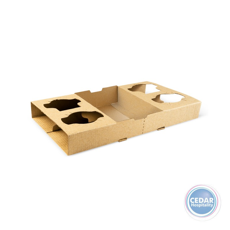 Coffee Take Away Tray 4 Cup Holder BX/100