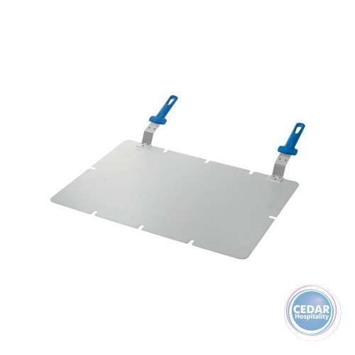 Gi Metal Rect Alum Pizza Tray With 2 Handles 61x41cm
