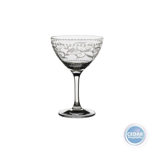 Rona Minner Vintage Dots Diacut Champagne Saucer 250ml - Box Qty Only - 6 P/Box