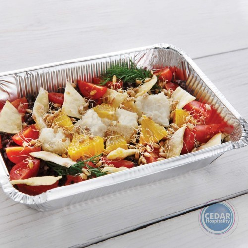 Foil Container Oblong Shallow 560ml 184x106x38mm Bx/500