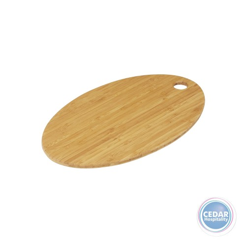 Masterpro Bamboo Triply Oval Board Medium 35 x 21.5 x 1cm