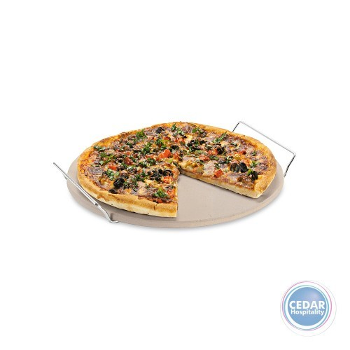Avanti Bbq Round Pizza Stone With Rack 33cm