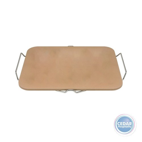 Avanti Rectangular Pizza Stone with Rack 30 x 38cm