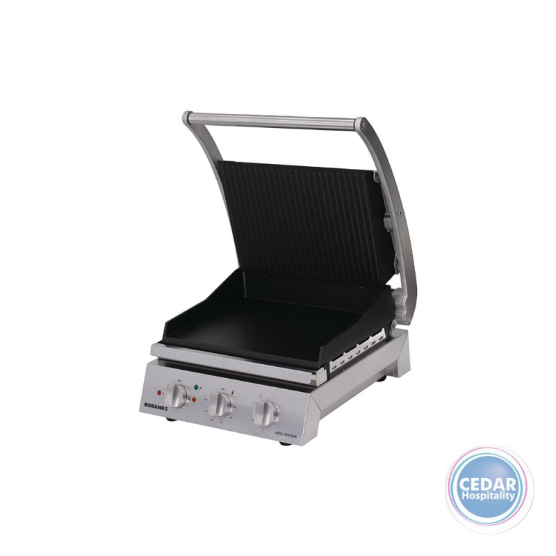 Roband Grill Station 6 Slice Ribbed Top Nonstick GSA610RT