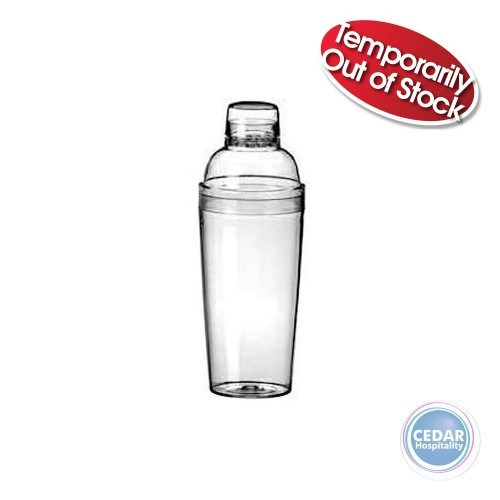 Cocktail Shakers Acrylic  3 piece - 750ml