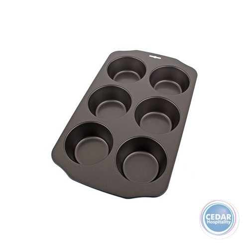 Daily Bake Professional Non-Stick 6 Cup Jumbo Muffin Pan Tray