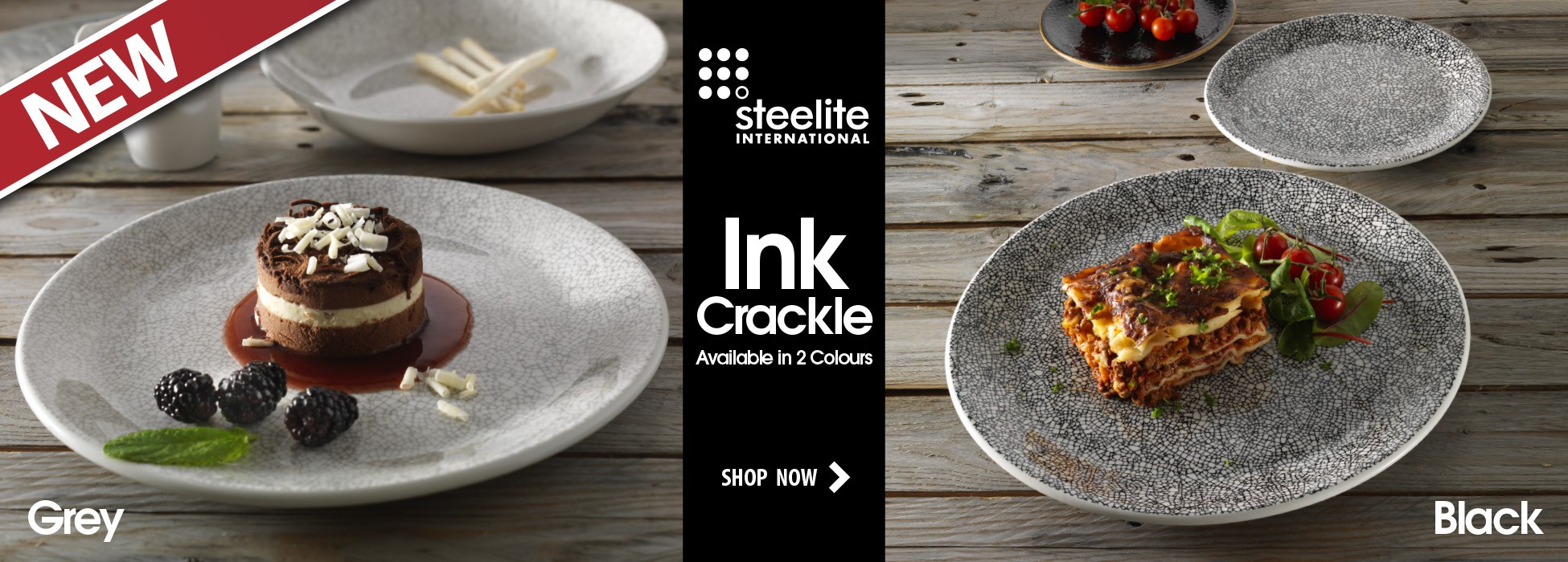 Steelite Ink Crackle